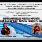 Riset Kualitatif untuk Agribisnis dan Sosial Ekonomi Pertanian