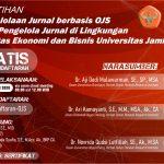 Pelatihan OJS dengan FEB Universitas Jambi